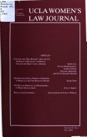 UCLA Women s Law Journal