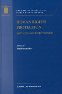Human Rights Protection:Methods and Effectiveness