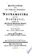 Nachrichten über die früheren einwohner von Nordamerika und ihre denkmäler von Friedrich Wilhelm Assall