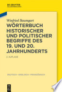 Wörterbuch historischer und politischer Begriffe des 19. und 20. Jahrhunderts