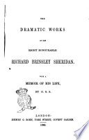 The Dramatic Works of the Right Honourable Richard Brinsley Sheridan