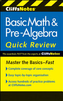 CliffsNotes Basic Math and Pre Algebra Quick Review
