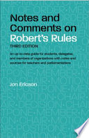 Notes and Comments  3rd Edition