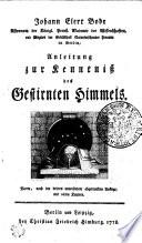 Anleitung zur Kenntnisz des gestirnten Himmels. 4. Aufl