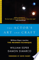 The Actor s Art and Craft