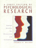 A Cross Section of Psychological Research