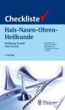 Checkliste Hals Nasen Ohren Heilkunde
