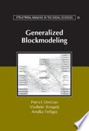 Generalized Blockmodeling