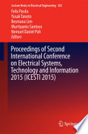 Proceedings Of Second International Conference On Electrical Systems Technology And Information 2015 Icesti 2015