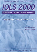 Proceedings of the Fifteenth IOLS 2000