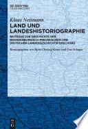 Land und Landeshistoriographie