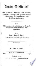 Zauber Bibliothek oder von Zauberei  Theurgie und Mantik  Zauberern  Hexen  und Hexenprocessen  D  monen  Gespenstern  und Geistererscheinungen