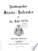 Hamburgischer Staats-Kalender0