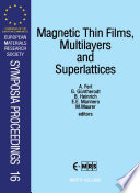 Magnetic Thin Films  Multilayers and Superlattices