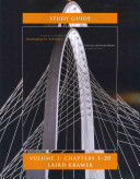 Student Study Guide for University Physics Volume 1  Chs 1 20