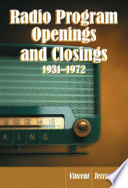 Radio Program Openings And Closings 1931 1972