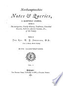 Northamptonshire Notes and Queries Book PDF