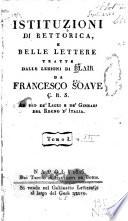 Istituzioni di rettorica, e belle lettere
