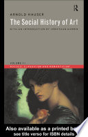 The Social History of Art: Rococo, classicism and romanticism Pdf/ePub eBook