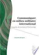 Communiquer en milieu militaire international