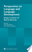 Perspectives on Language and Language Development