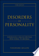 Ebook Disorders of Personality Epub Theodore Millon Apps Read Mobile