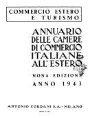 Annuario delle Camere di Commercio italiane all estero commercio estero e turismo