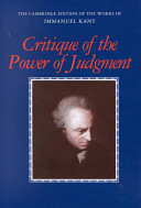Critique of the power of judgment /