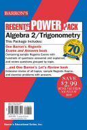 Algebra 2 Trigonometry Power Pack