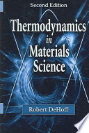 Thermodynamics In Materials Science Second Edition book