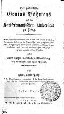 Der patriotische Genius Böhmens und der Karlferdinand'schen Universität zu Prag