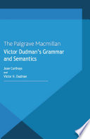 Victor Dudman s Grammar and Semantics