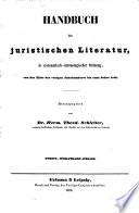 Handbuch der juristischen Literatur