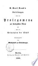 Philosophische und theologische Vorlesungen