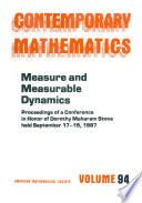 Measure and Measurable Dynamics