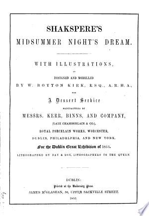 Shakspere's Midsummer Night's Dream
