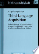 Third Language Acquisition