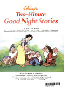 Disney's Two-Minute Good Night Stories : snow white and the dwarfs, and...