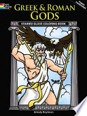Greek and Roman Gods Stained Glass Coloring Book