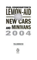 Lemon Aid new cars and minivans 2004