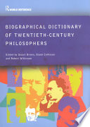 Biographical Dictionary of Twentieth century Philosophers