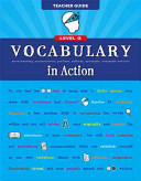 Vocabulary in Action Level G Teacher Guide