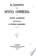 Il concetto della Divina commedia di Dante Alighieri