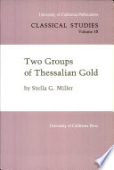 Two Groups Of Thessalian Gold