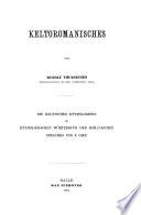 Keltoromanisches