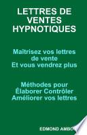 LETTRES DE VENTES HYPNOTIQUES