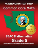 Washington Test Prep Common Core Math Sbac Mathematics Grade 5