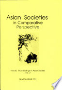 Asian Societies in Comparative Perspective