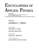 Encyclopedia of Applied Physics  Physics and Technology of Ion and Electron Sources to Positron Annihilation Spectroscopy