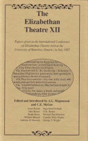 The Elizabethan theatre XII